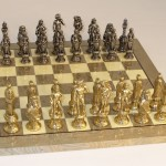Metal & Brass Chess Set - 99M-GY