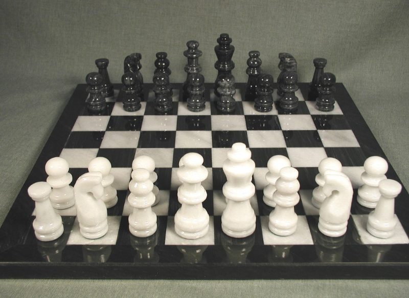 Marble Chess Set - 96016BW