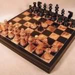 Alabaster Chess Set - NS34BB