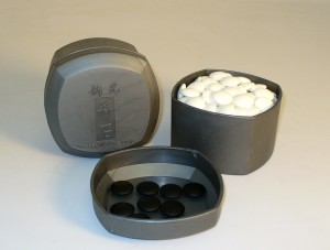 8mm Stones with Grey Bowls - 22801K-8BW