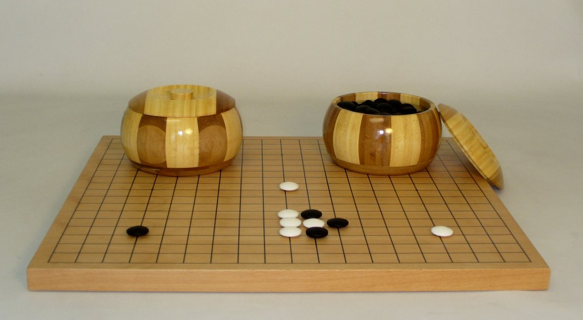 Go Set with Inlaid Bamboo Bowls - 22822-08K-05