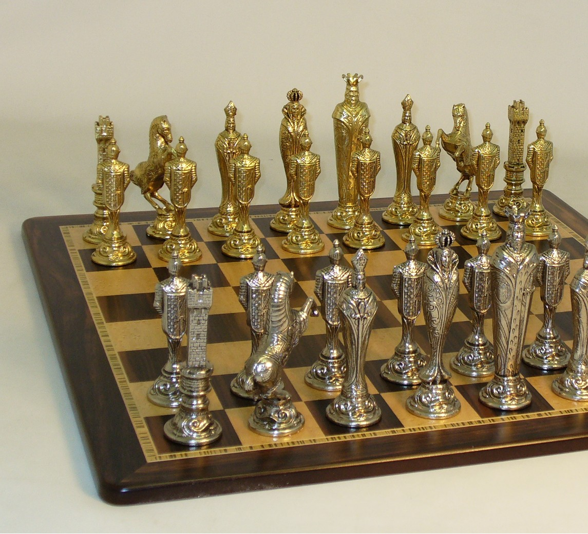 Metal and Brass Chess Set - 48M-EBM