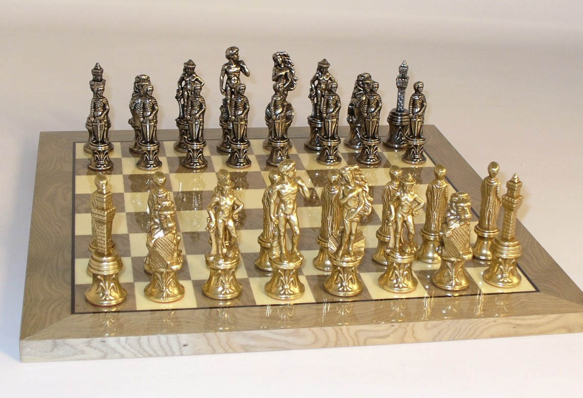 Metal and Brass Chess Set-99M-GY