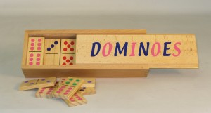 Double 6 Wood Dominoes - SQ32