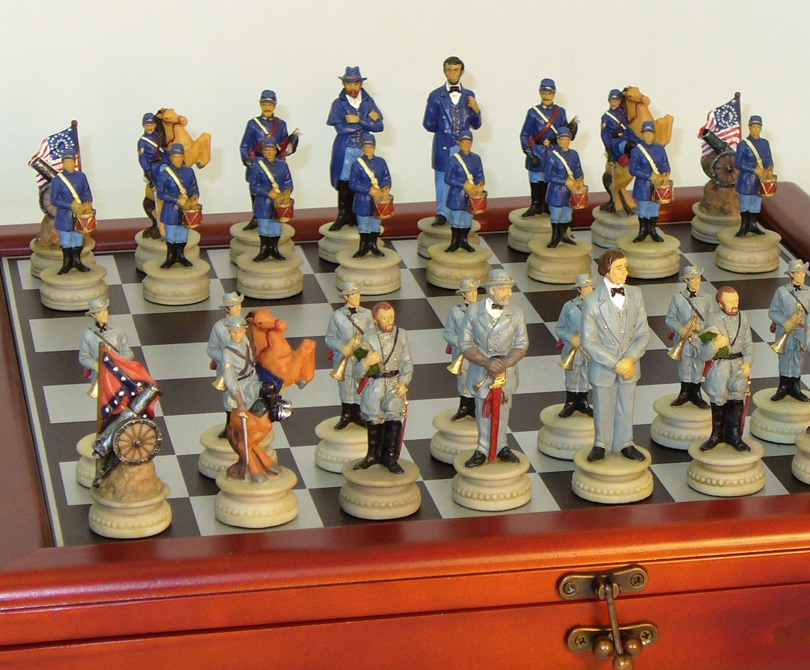 Resin Civil War Chess Set -  R1861-CCT