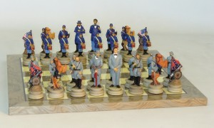 Resin Civil War Chess Set