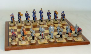 Resin Civil War Chess Set - R1861-SM