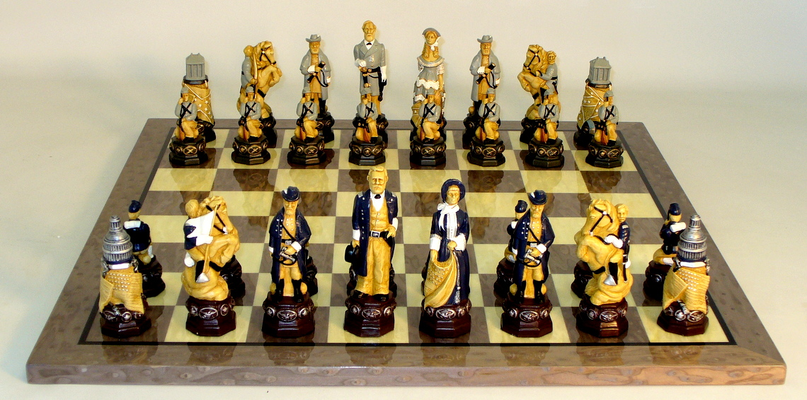 Resin Civil War Chess Set - R5861-GY