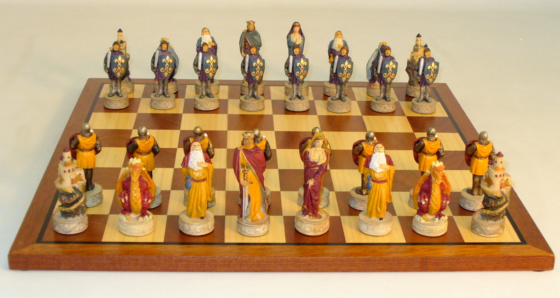 Resin Middle Ages Chess Set