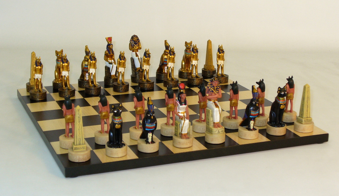 Resin-Egyptian Chess Set