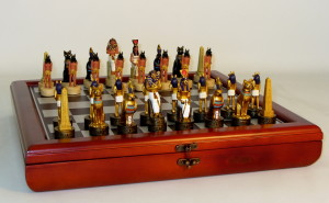 Resin Egyptian Chess Set