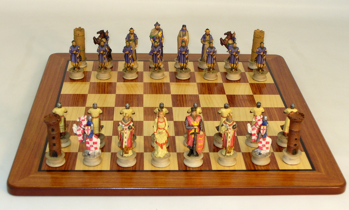 Resin Richard the Lionheart Chess Set