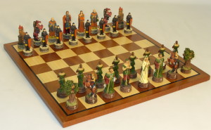 Resin Robin Hood Chess Set