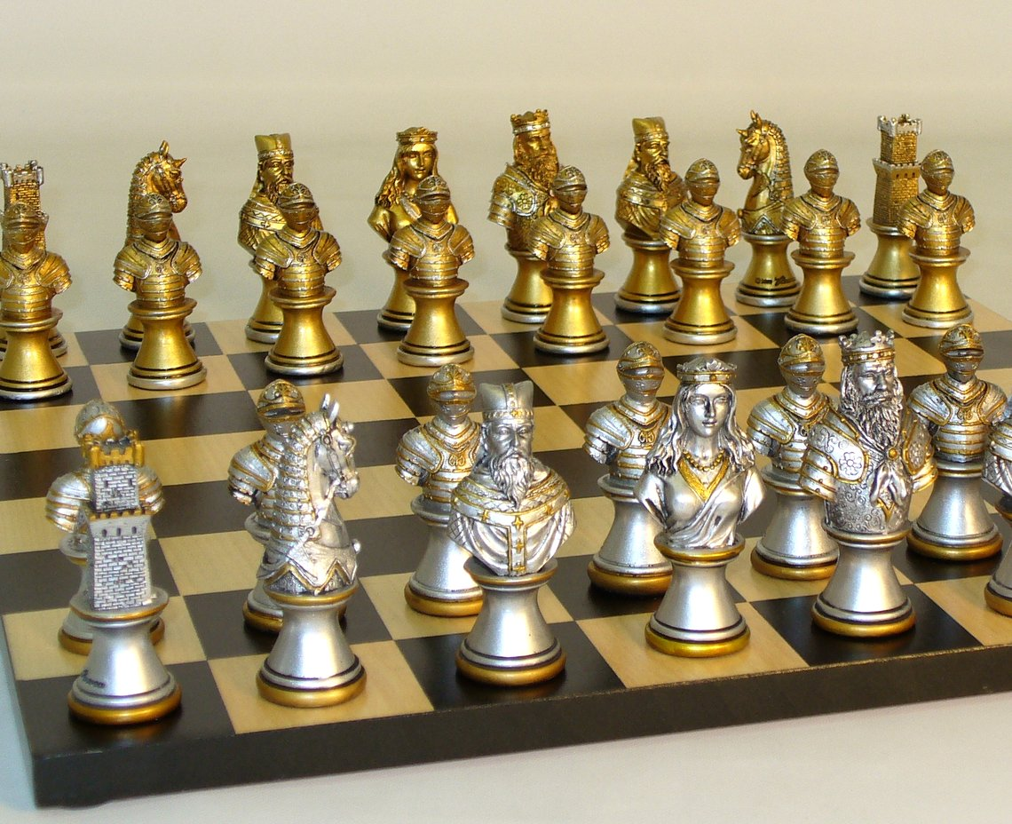 Resin Camelot Chess Set