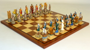 Troy vs Sparta Chess Set