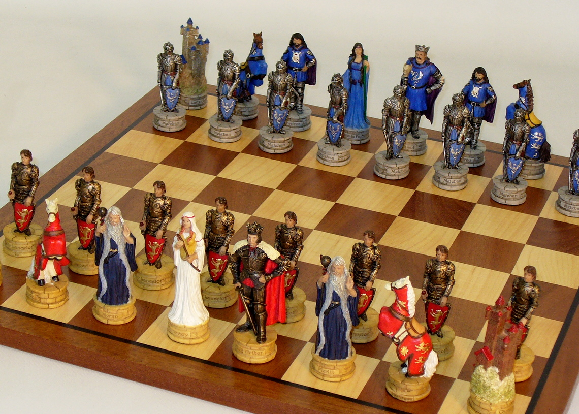 Resin King Arthur Chess Set